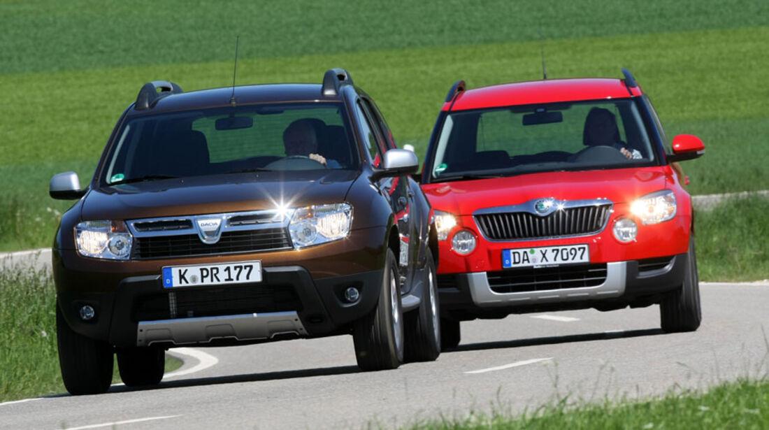 Dacia Duster, Skoda Yeti