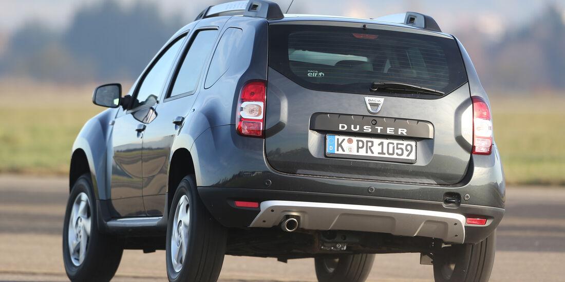 Dacia Duster dCi 110 4x 4, Heckansicht