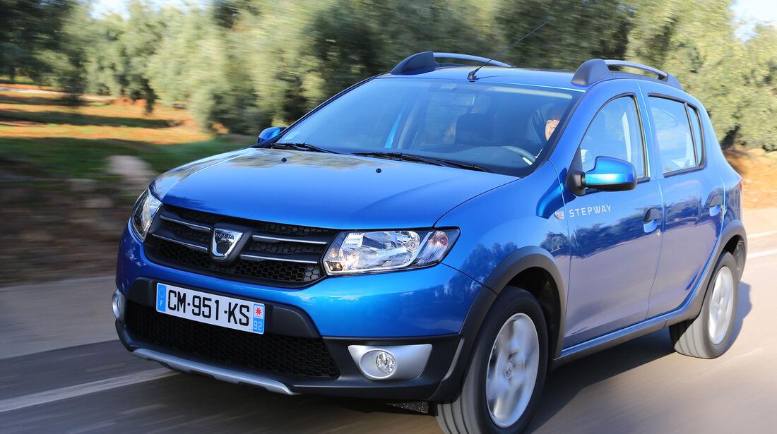 Dacia Sandero, Frontansicht