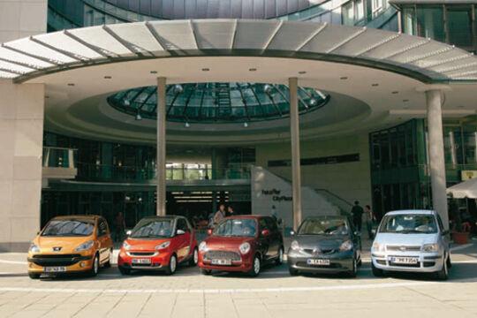 Daihatsu Trevis, Fiat Panda, Peugeot 1007, Smart Fortwo, Toyota Aygo