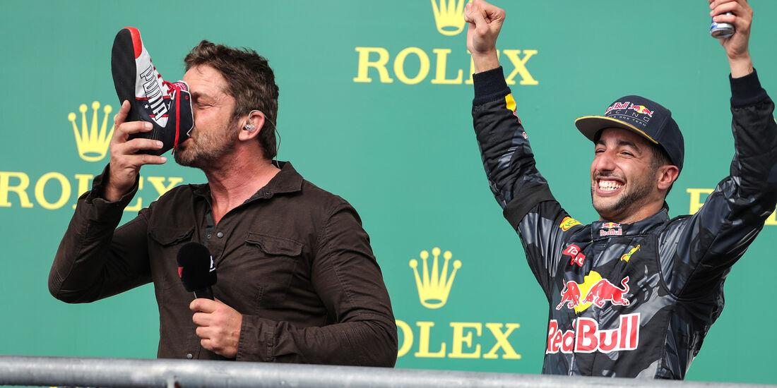 Daniel Ricciardo & Gerard Butler - GP USA 2016