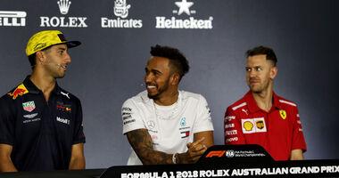 Daniel Ricciardo - Lewis Hamilton - Sebastian Vettel - GP Australien 2018