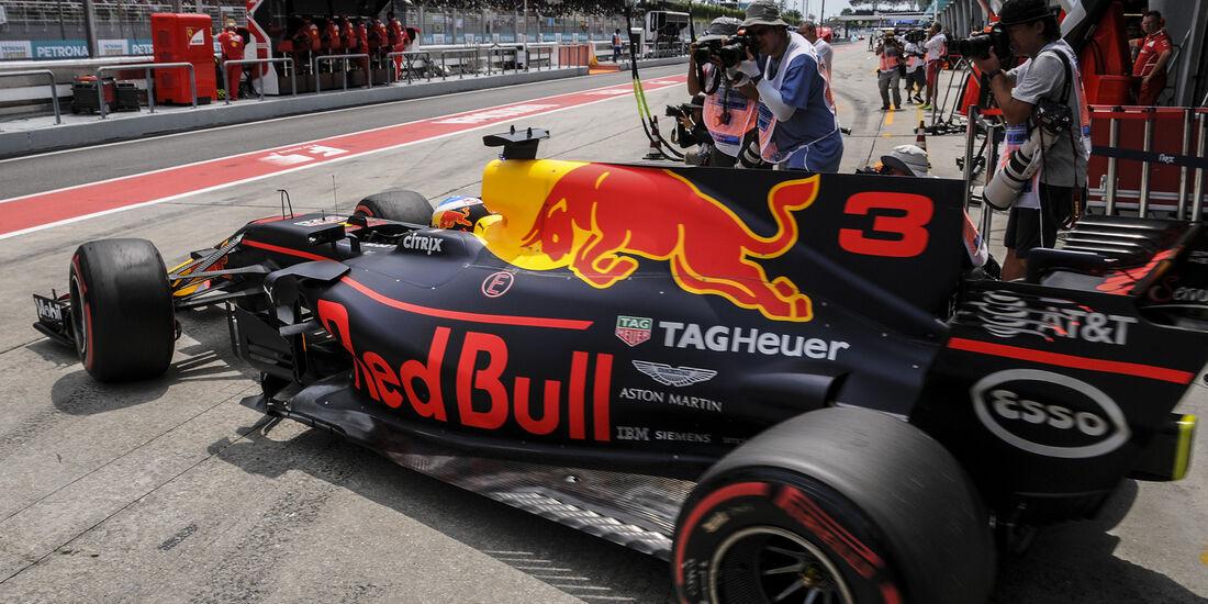 Daniel Ricciardo - Red Bull - Formel 1 - GP Malaysia - Sepang - 30. September 2017