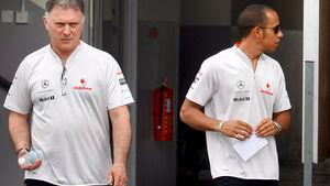 Dave Ryan und Lewis Hamilton