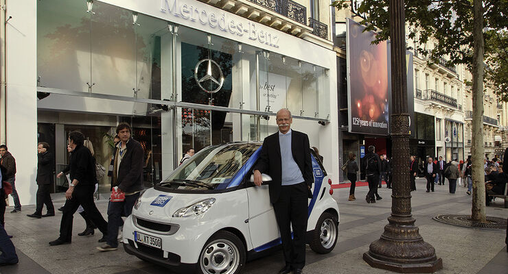 Dieter Zetsche, Smart, Pariser Autosalon 2010, 125 Jahre Automobil