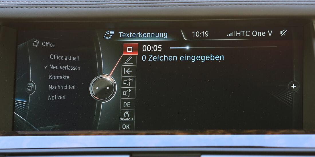 Diktierfunktion, BMW, Monitoranzeigen