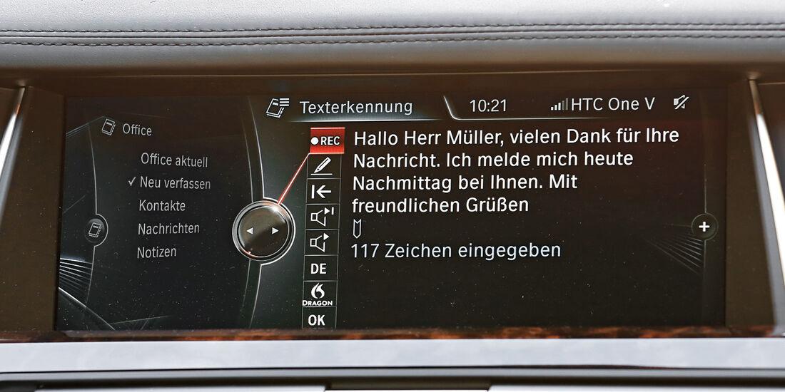 Diktierfunktion, BMW, Text