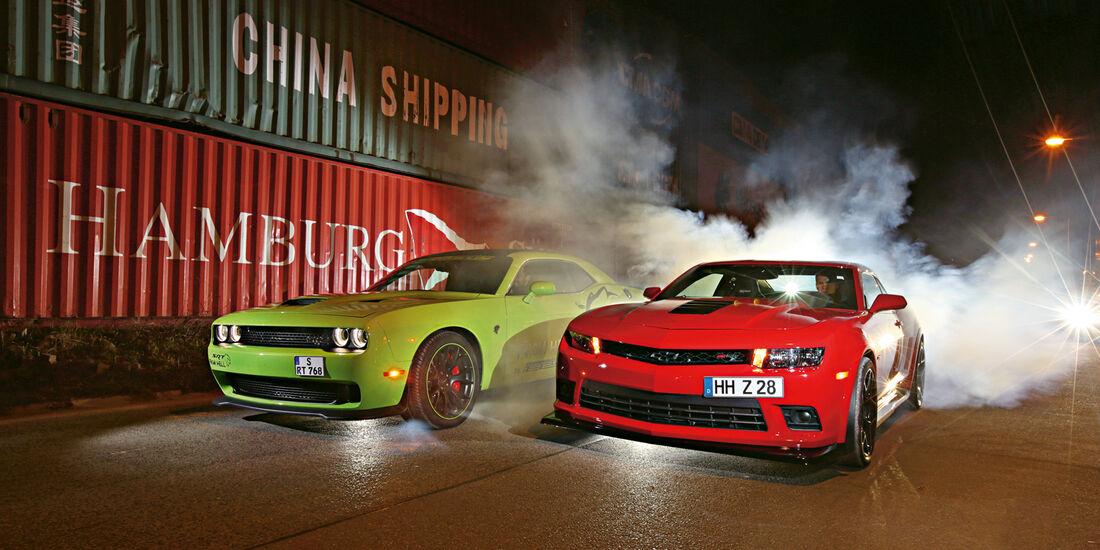 Dodge Challenger SRT Hellcat, Geiger-Camaro Z/28, Frontansicht
