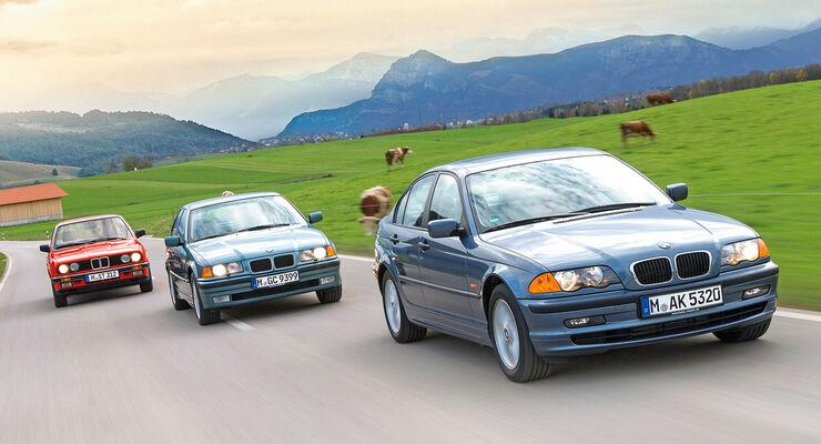Drei Generationen Bmw 3er Auf Der Spur Des Markenkerns Auto Motor