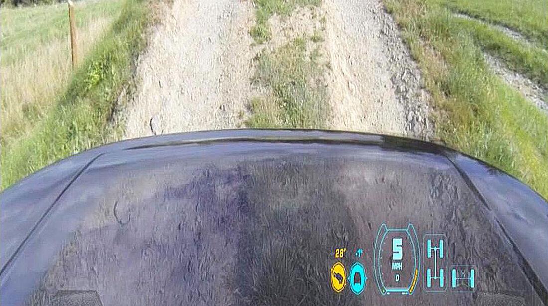 Durchsichtige Motorhaube Land Rover