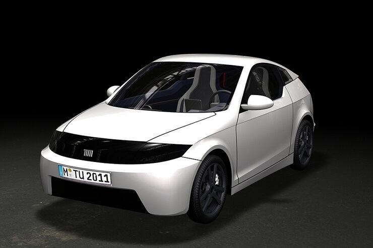 E-Auto Mute der TU München, Aerodynamik