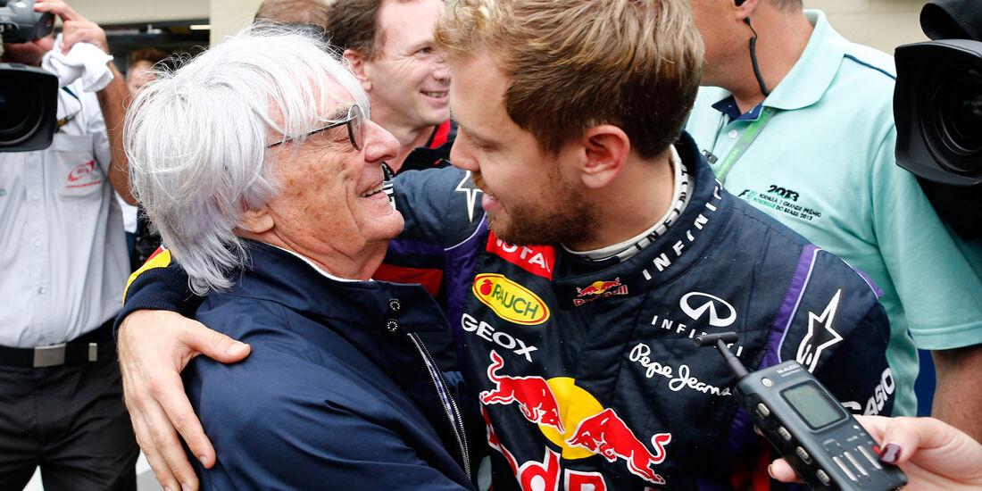 Ecclestone & Vettel - GP Brasilien 2013