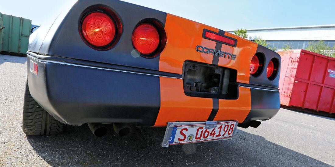 Einkaufs-Tour, Chevrolet Corvette C4 Convertible, Heck