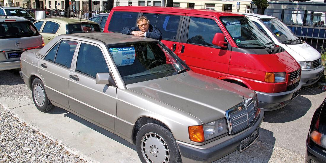 Einkaufs-Tour, Mercedes 190 E 2.0