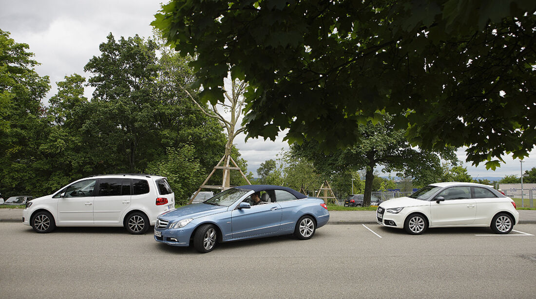 Einparktest, Mercedes E-Klasse Cabrio