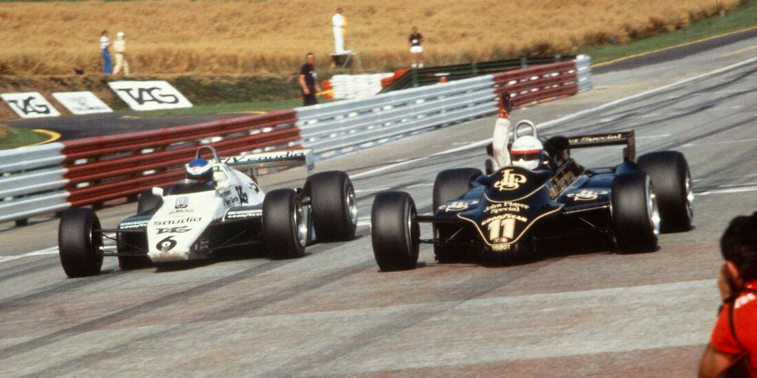 Elio de Angelis - Lotus 91 - Keke Rosberg - Williams FW08 - Österreichring 1982