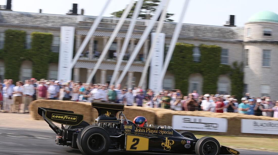 Emerson Fittipaldi - Lotus 72E - Goodwood 2013