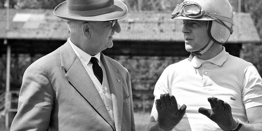 Enzo Ferrari - Wolfgang Graf Berghe von Trips - Monza 1960