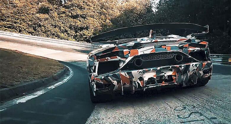 Erlkönig Lamborghini Aventador SVJ
