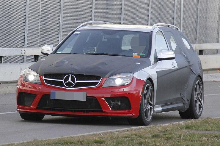 Erlkönig Mercedes C-Klasse T-Modell Black Series