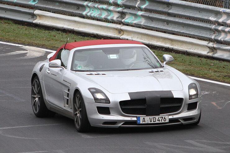 Erlkönig Mercedes SLS Roadster