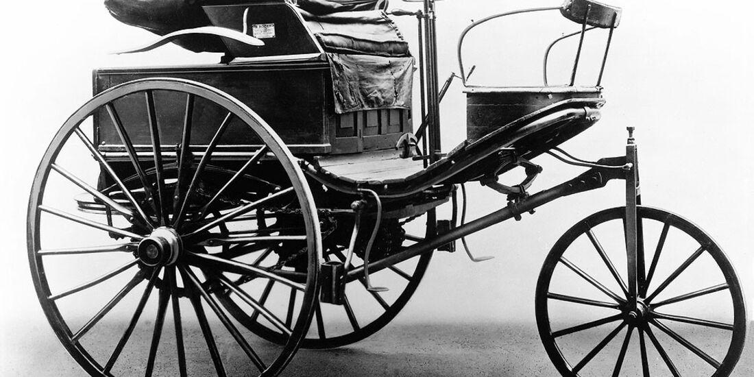 Erster Patent-Motorwagen von Benz aus dem Jahr 1888