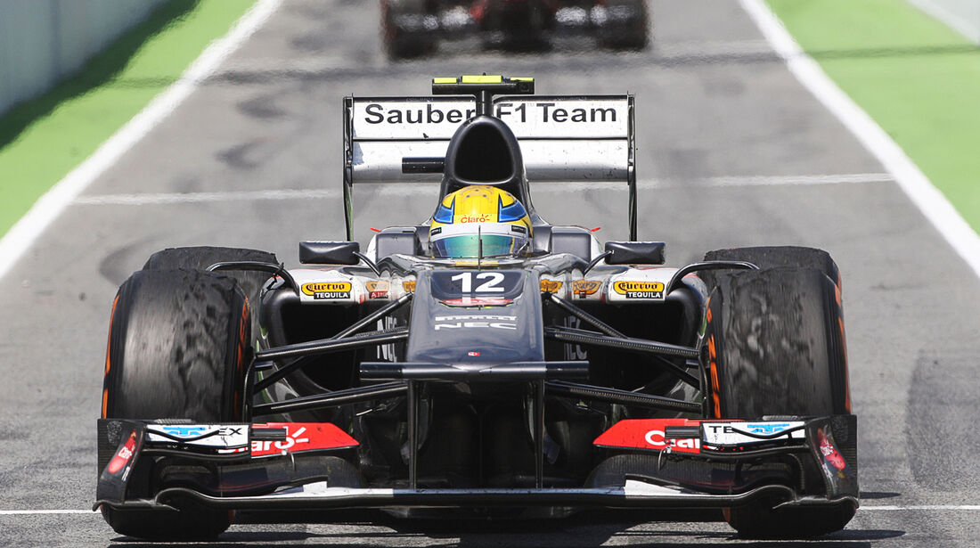 Esteban Gutierrez GP Spanien 2013