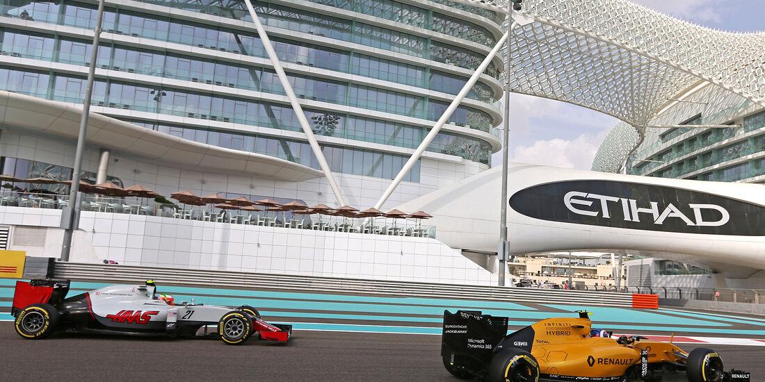Esteban Gutierrez & Jolyon Palmer - Formel 1 - GP Abu Dhabi - 25. November 2016