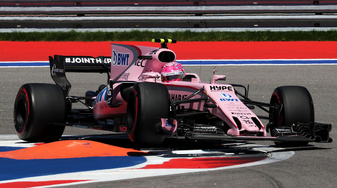 Esteban Ocon - Force India - Formel 1 - GP Russland - Sotschi - 29. April 2017