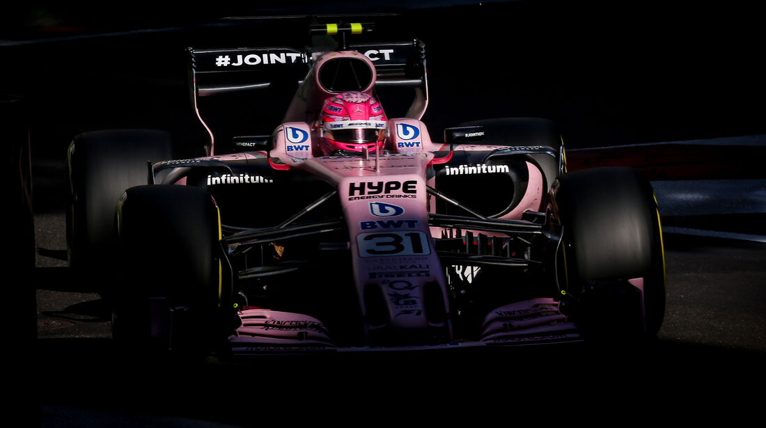Esteban Ocon - Force India - GP Aserbaidschan 2017 - Baku - Rennen