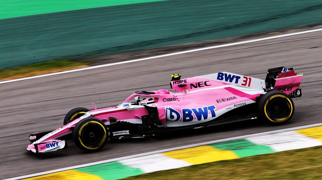 Esteban Ocon - Force India - GP Brasilien - Interlagos - Formel 1 - Samstag - 10.11.2018