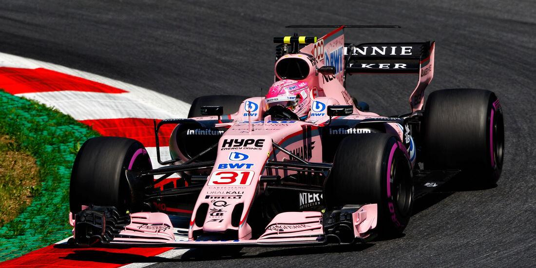Esteban Ocon - Force India - GP Österreich - Spielberg - Formel 1 - Freitag - 7.7.2017