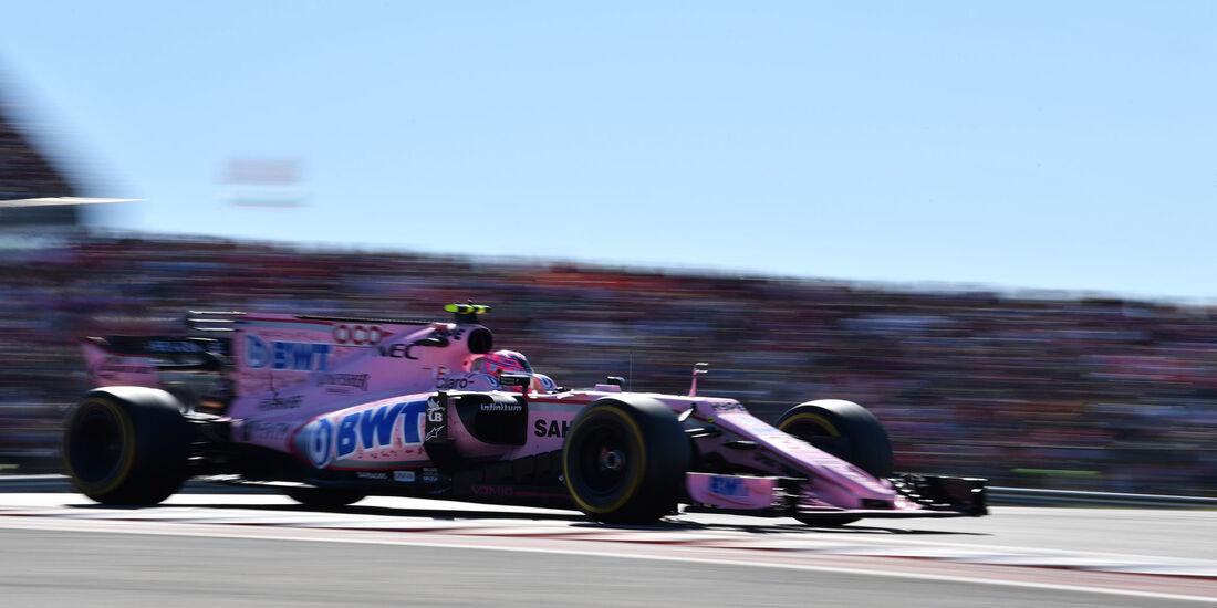 Esteban Ocon - Force India - GP USA 2017 - Rennen