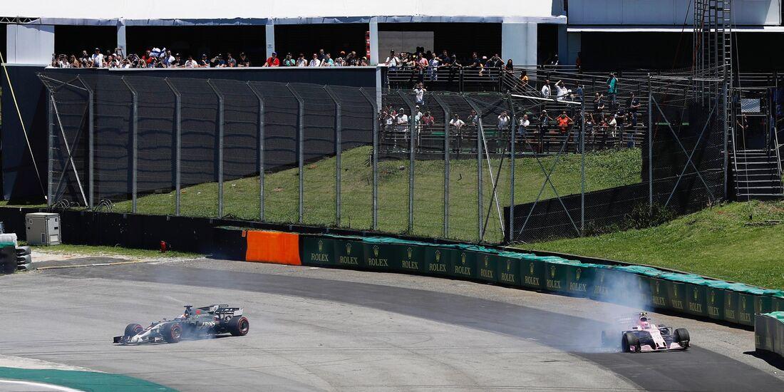 Esteban Ocon - Romain Grosjean - Formel 1 - GP Brasilien - 12. November 2017