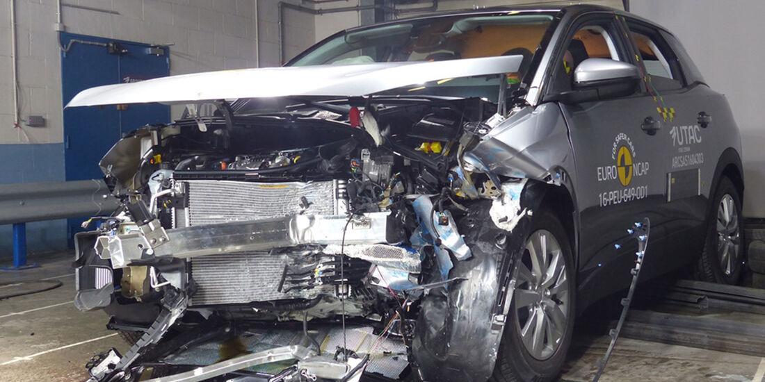 EuroNCAP Crashtest 2016 Peugeot 3008