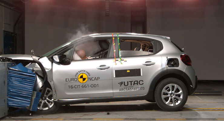 EuroNCAP Crashtest 2017 Citroen C3
