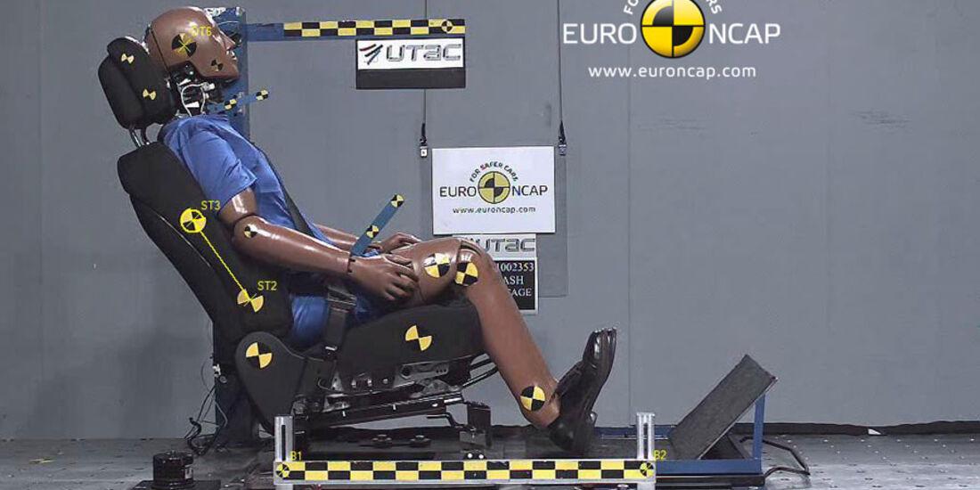 EuroNCAP-Crashtest, Kia Sportage, Heckaufpralltest