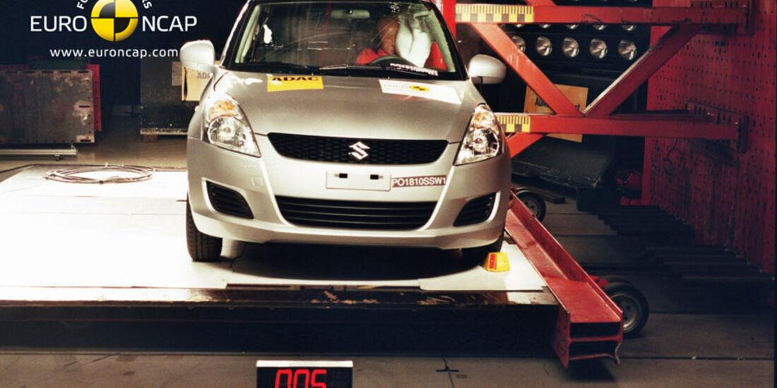 EuroNCAP-Crashtest Suzuki Swift, Pfahl-Crashtest