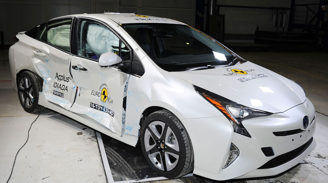 EuroNCAP Crashtest Toyota Prius