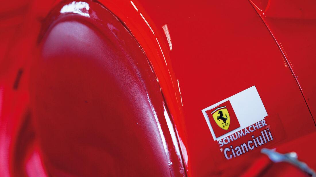 F1 Clienti, Detail, Schumacher, Schriftzug