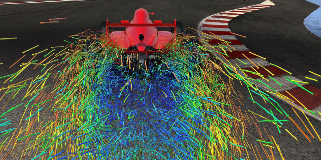 F1 - Digitaler Windkanal - Simulation - CFD - Exa