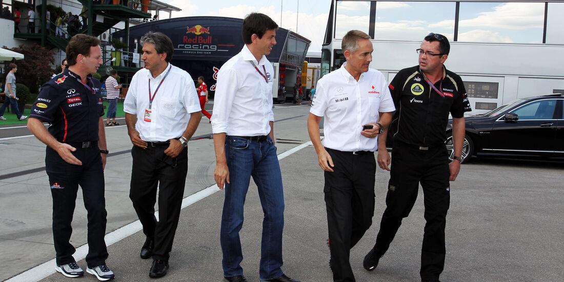 F1-Teamchef-Meeting - Formel 1 - GP Ungarn - Budapest - 27. Juli 2012