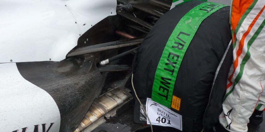 F1-Technik 2011 - Auspuff Force India