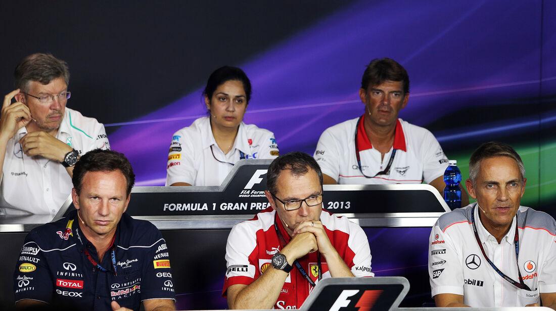 FIA Pressekonferenz - Formel 1 - GP Italien - 6. September 2013