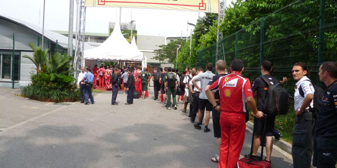 Fahrerlager GP Singapur 2011
