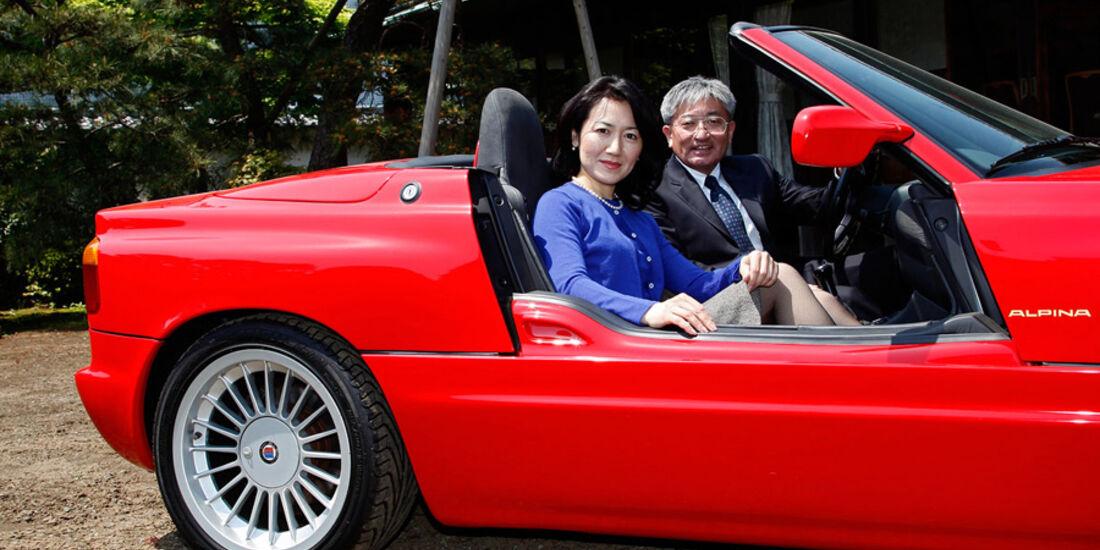 Familie Hosobuchi im BMW