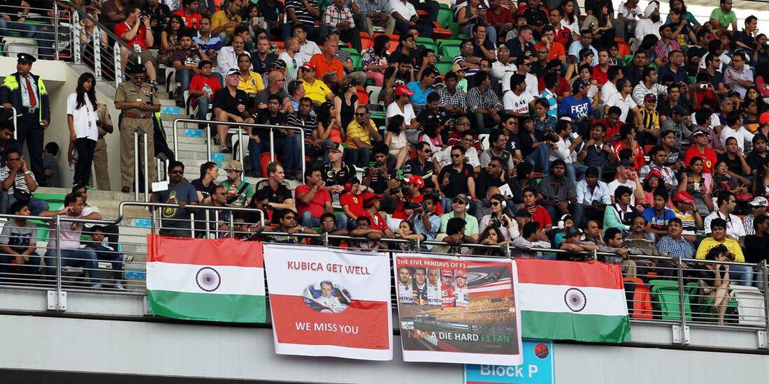 Fans - Formel 1 - GP Indien - 27. Oktober 2013