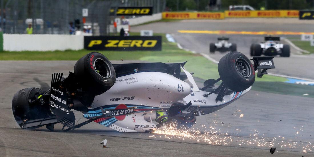 Felipe Massa - GP Deutschland - Crashs 2014
