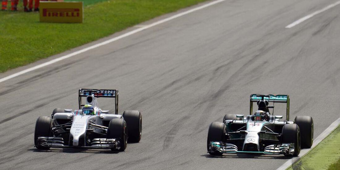 Felipe Massa  - Williams - Lewis Hamilton - Mercedes - Formel 1 - GP Italien - 7. September 2014