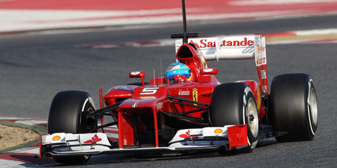 Fernando Alonso Barcelona F1-Test 2012